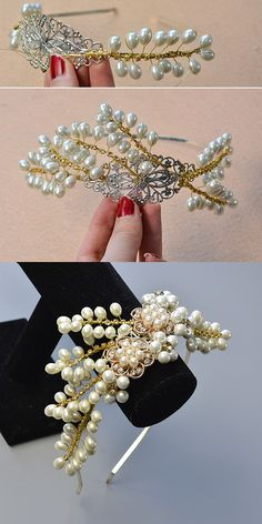 LC.Pandahall.com will publish the tutorial about wire wrapped hair pearl jewelry.