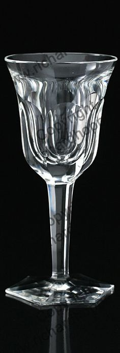 GLASS FROM THE VINTAGE SET OF SIX MOSER POPE CUT CRYSTAL WINE GLASSES. Price £325.00. For more information about this item click here: http://www.richardhoppe.co.uk/item.php?id=3081 or email us here: rhshopinformation@gmail.com