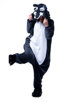LIHAO Wolf Onesie Pyjamas Schlafanzug unisex Erwachsene Nachtwäsche Anime Cosplay Halloween Kostüm Kleidung Tier  - http://www.amazon.de/dp/B00UFCKZOE