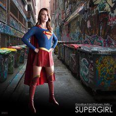 Supergirl TV show photo manipulation, featuring Melissa Benoist.