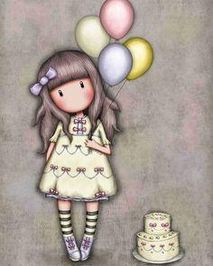 Design Santoro Gorjuss Greetings Card - I Wish for s Little Doll, Little Girls, Cute Images, Cute Pictures, Art Mignon, Santoro London, Diamond Picture, Stitch Cartoon, Cute Cartoon Girl