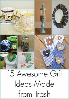 Awesome Repurposed Gift Ideas Made from Trash