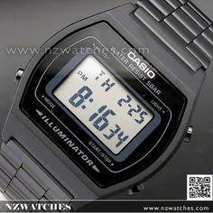cf141fbac1f Casio Retro Design LED Backlight Black Digital Watch B640WB-1A
