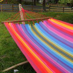 Cool Doppel Stabh ngematte Rainbow mit XL Spreizstab cm aus Baumwolle