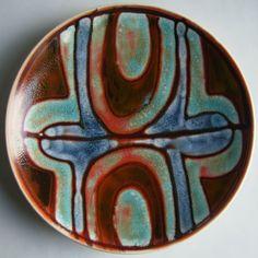 Shirley Campbell 1966-1969, 20cm diameter plate, shape no. 3