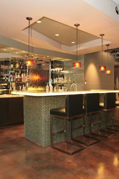 Interior Decorating Plans for your Home Bar - Dsign. Interior Designing, Home Interior Design, Interior Decorating, Modern Minimalist House, Minimalist Home Interior, House Architecture, Cool House Designs, Bars For Home, Home Goods