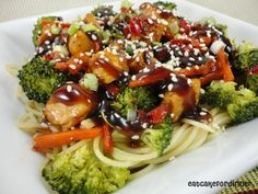 Teriyaki Chicken and Noodle Bowl - I seriously Loved this dish!