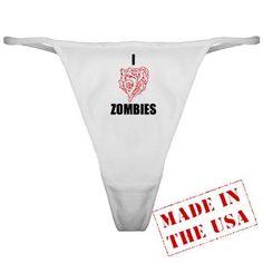 I Heart Zombies Classic Thong at http://ilovethisstuff.net $10.99