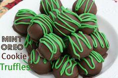 Mommy's Kitchen: St. Patrick's Day Treat {Mint Oreo Cookie Truffles}