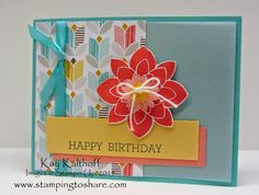 Crazy About You with Best Year Ever Paper and Accessories with How To Video, Kay Kalthoff, Stampin' Up!, Stamping to Share