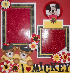 This is the first page to a Mickey Mouse Club layout that I created.