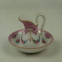 Fine Hand Painted French Porcelain Jug and Bowl circa 1880s   In my trunk,