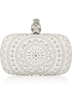 ALEXANDER MCQUEEN The Skull studded leather box clutch $2,095