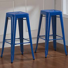 Industrial Bar Stools in Blue