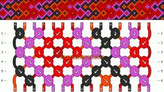Normal Friendship Bracelet Pattern #2080
