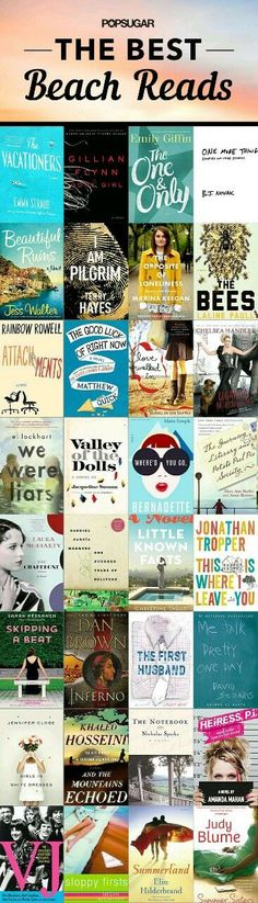 Looking for poolside page-turners you can dive into while you're away on a Summer getaway? Here's a mix of popular classics, romantic novels, thrillers, and modern fiction.
