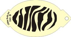 Face Painting Stencils Printable | facepainting stencils face painting airbrush stencil zebra print