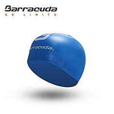 Barracuda 3D Gorro de natación (Logo Estándar) Silicona Antiarruga Accesorios - Impermeable Duradero Color Sólido Cómodo Ligero Profesional Adultos Hombre y Mujer Adolescente