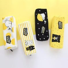 Who said that a pencil case has to look boring? Let this cute bear design bring smile to your face while storing everything you need inside. Cute Stationery, Stationery Design, Cute Pencil Case, Pencil Cases, Stationary Store, Kawaii Pens, Cool School Supplies, Cute Wallpapers Quotes, Diy Back To School