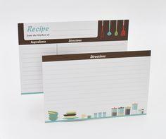 Amazon Com Home Advantage Modern Kitchen Recipe Card Set 50