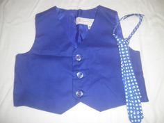 Boy's Vest and Necktie  Size 4T by anncraftcorner on Etsy, $15.00