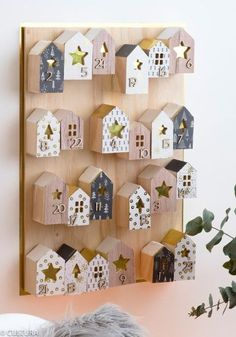 DIY - Hygge Advent Village - Holiday-Ornaments by Paper Design - Easy Christmas Crafts, Christmas Time, Christmas Gifts, Christmas Decorations, Christmas Ornaments, Christmas Ideas, Advent Calenders, Diy Advent Calendar, Homemade Advent Calendars