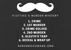The Structure of a Murder Mystery in 5 Acts | What follows is a structure—one-among-many—a murder mystery could have. By the way, this is exclusively a murder mystery structure. If you would like to read about a general story structure head over here: The Structure of a Great Story: How to Write a Suspenseful Tale! In what follows I've broken a murder mystery into six main events stretched over five acts. | #writing #amwriting