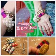 Wrapped and Beaded DIY Bracelet Feature