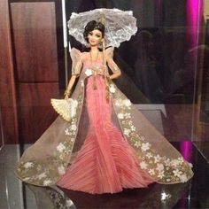 preliminary prototype of my for Grant A Wish's live charity auction! Barbie Fashion Royalty, Fashion Dolls, Barbie Dress, Barbie Clothes, Modern Filipiniana Dress, Filipino Fashion, Barbie Princess, Pageant Gowns, Barbie Collection