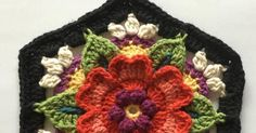 The Fifth Instalment of the Frida's Flowers Blanket Crochet-Along, designed by Jane Crowfoot and hosted by Stylecraft Yarns has just been po. Thread Crochet, Knit Or Crochet, Crochet Granny, Crochet Motif, Crochet Designs, Crochet Crafts, Crochet Doilies, Yarn Crafts, Crochet Patterns