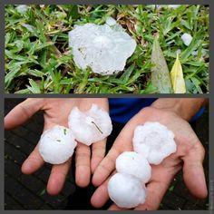 Summer hail storm in Pietermaritzburg, South Africa