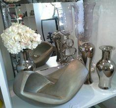 Sculpture,  floral, candle holder, vases