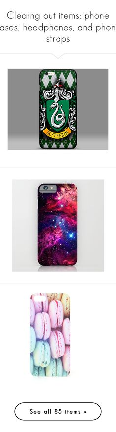 """""""Clearng out items; phone cases, headphones, and phone straps"""" by lil-galaxy-princess ❤ liked on Polyvore featuring accessories, tech accessories, phone cases, harry potter, phone, cases, galaxy, tech, iphone & ipod cases and iphone cases"""
