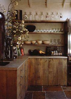 120 Modern Rustic Farmhouse Kitchen Decor Ideas – Home Design Cocina Shabby Chic, Shabby Chic Kitchen, Farmhouse Kitchen Decor, Home Decor Kitchen, Kitchen Hacks, Diy Kitchen, Rustic Farmhouse, Outdoor Kitchen Countertops, Wood Kitchen Cabinets