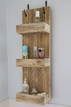 his versatile shelving unit would be ideal on achieving a modern rustic look around your home    Hand made in the UK in our family workshop enables us to make custom sizes as required   Dimensions 90cm tall x 35 cm wide shelves 17cm deep £180.00