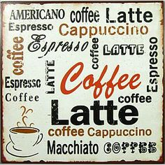 Plåtskylt Coffee - La Finesse | Mixin
