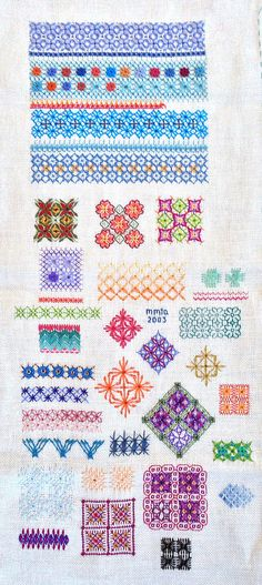 Wessex Stitchery Sampler - Wessex Embroidery