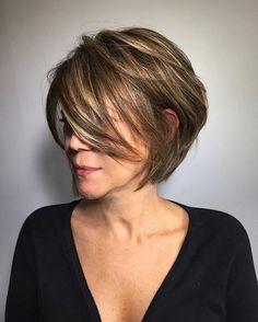 100 Mind-Blowing Short Hairstyles for Fine Hair Messy Choppy Bob Short Layered Haircuts, Short Hairstyles For Women, Straight Hairstyles, Hairstyles Haircuts, Trendy Hairstyles, Hairstyle Short, Wedding Hairstyles, Homecoming Hairstyles, Pixie Haircuts