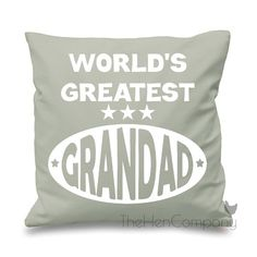 World's Greatest Grandad Quote Cushion Cover Gift by TheHenCompany