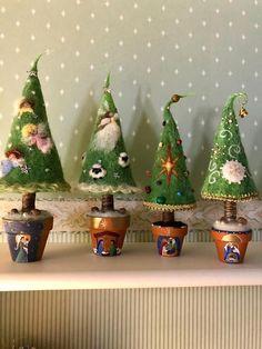Needle felted Christmas tree Waldorf inspired Pine