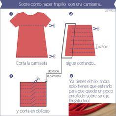Sobre cómo hacer trapillo con una camiseta
