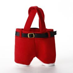 Red Christmas Santa Pants Gift Bags Sweets Candy Treat Xmas Gift Stocking Filler