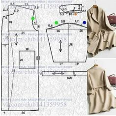 Простые выкройки пальто (много) / Простые выкройки / ВТОРАЯ УЛИЦА Coat Patterns, Dress Sewing Patterns, Clothing Patterns, Long Jackets For Women, Coats For Women, Fashion Sewing, Diy Fashion, Dress Design Sketches, Sewing Blouses