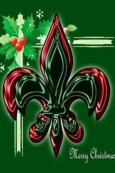 Christmas fleur de Lis....Saints