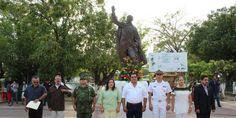 Conmemoran el 210 aniversario del natalicio de Benito Juárez García