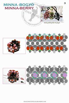 MATERIALE:   perle 6 mm   perle 4 mm   perle 3mm   sfaccettate 4 mm   biconi 4 mm   rocailles 8/0   rocailles 11/0   filo   ago ...