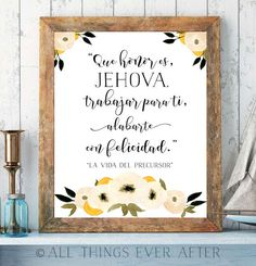 La vida del precursor | Song 140 | SPANISH | SKE Graduation Gift | JW | Print | New Songs | Printable | Wall Art | 0077 by AllThingsEverAfter on Etsy