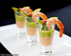 My absolute childhood favourite, avocado prawn cocktail, as a canape.