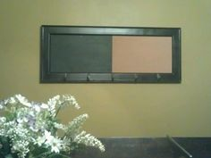 "Original pinner said: ""This frame had a mirror in it before... Until it fell off the wall and broke. I repainted the frame and added cork and chalkboard... I love it more now!"""