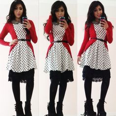 Polkadots!!! Modest Fashion  Outfit of the day